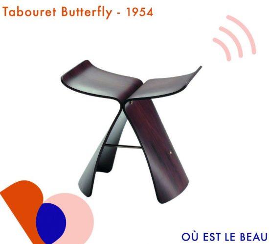 tabouret butterfly